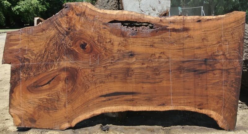 8 Large Figured Wide Claro Black Walnut Slabs | Salvaging ...