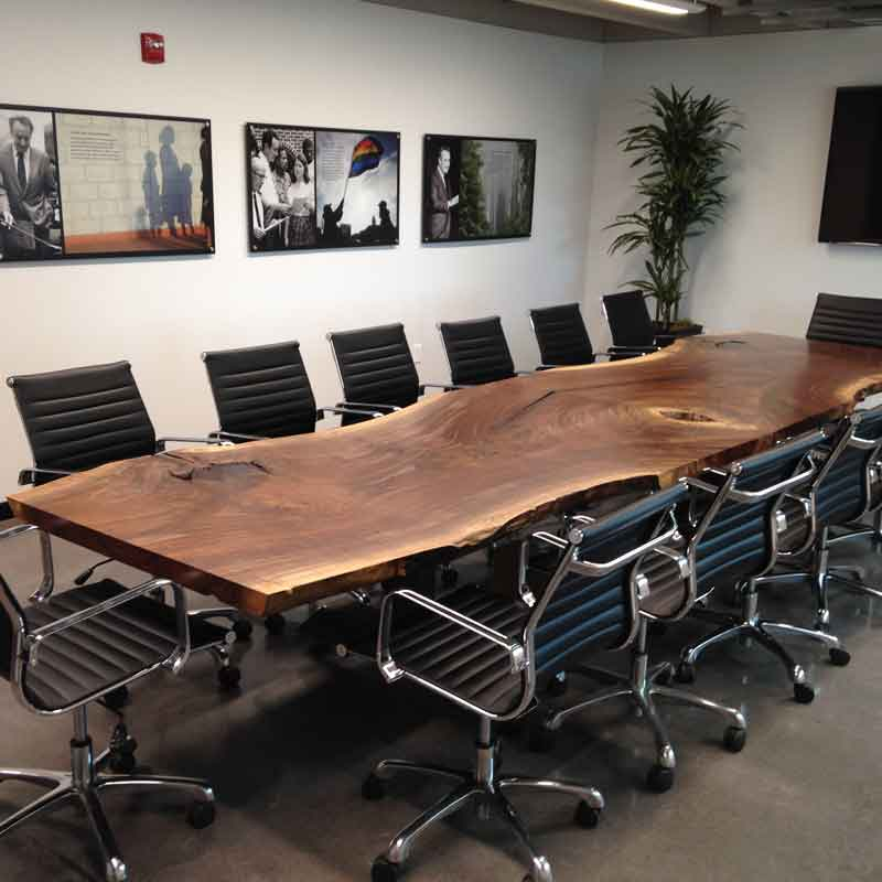 Custom Conference Table Hardwood Reclaiming And Salvaging - 14 foot conference room table