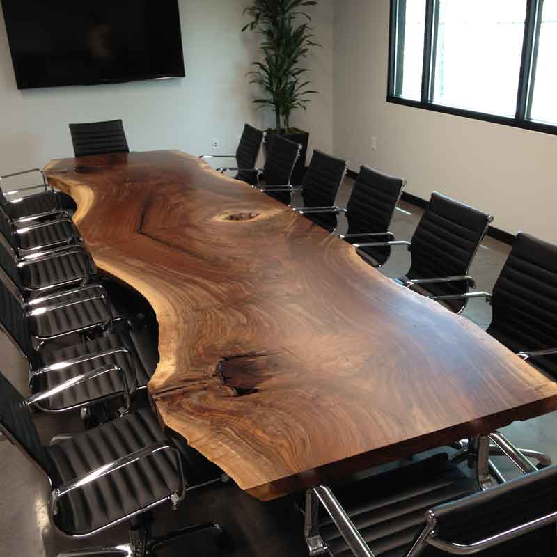 Custom Conference Table Salvaging And Reclaiming Urban Woods