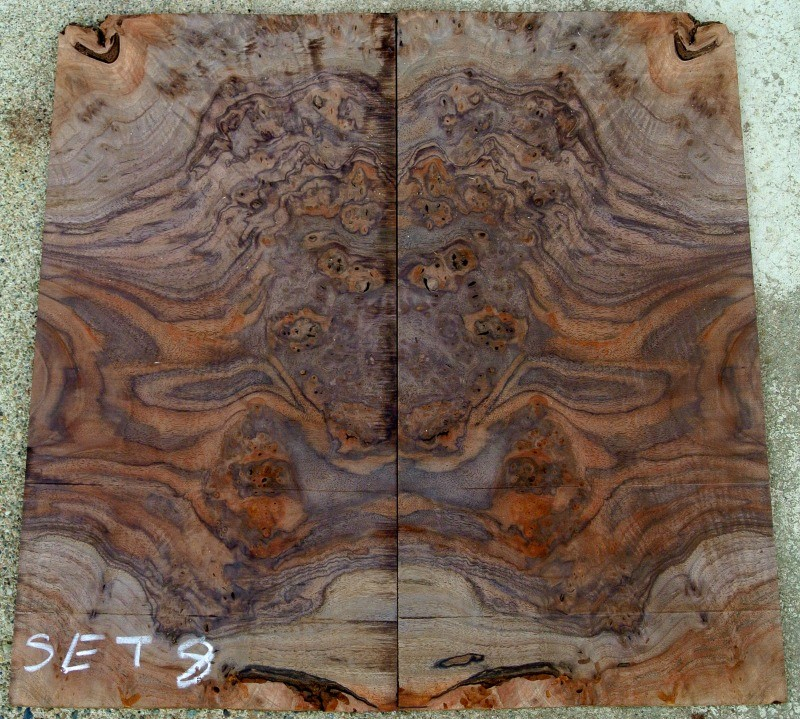 Super Burl And Figured Electric Guitar Bookmatched Sets
