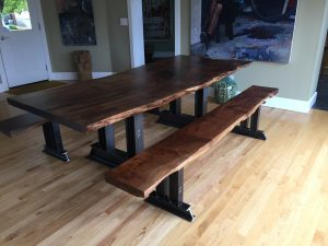 This Is A Custom Black Walnut Slab Table Top That We Built For A Client  That Is Transforming Their Dining Room Into A Modern Concept And They  Wanted ...