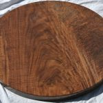 "Custom 36"" Round Highly Figured Claro Walnut Crotch Table"