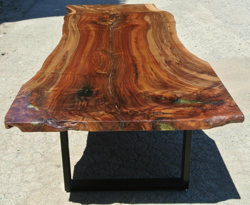 Genial Custom Grafted English Black Walnut Slab Dining Table