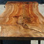 Custom Grafted English Black Walnut Slab Dining Table