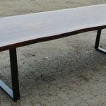 Beautiful Custom 10' Claro Walnut Slab Dining Table