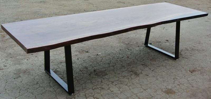 Beautiful Custom 10′ Claro Walnut Slab Dining Table