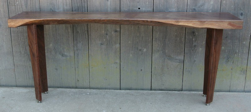 Custom Claro Walnut Entry or Console Table