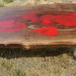 Custom Heart California Black Walnut Coffee Table