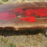 Custom Heart California Black Walnut Coffee Table