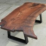 Custom Claro Walnut Coffee Table