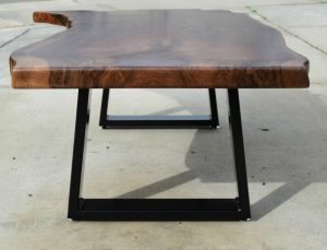 Custom Claro Walnut Coffee Table | Salvaging and Reclaiming Urban Woods