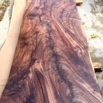 Custom Claro Walnut Live Edge Slab Island Top