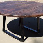 "Custom 60"" Round Claro Walnut Dining Table"