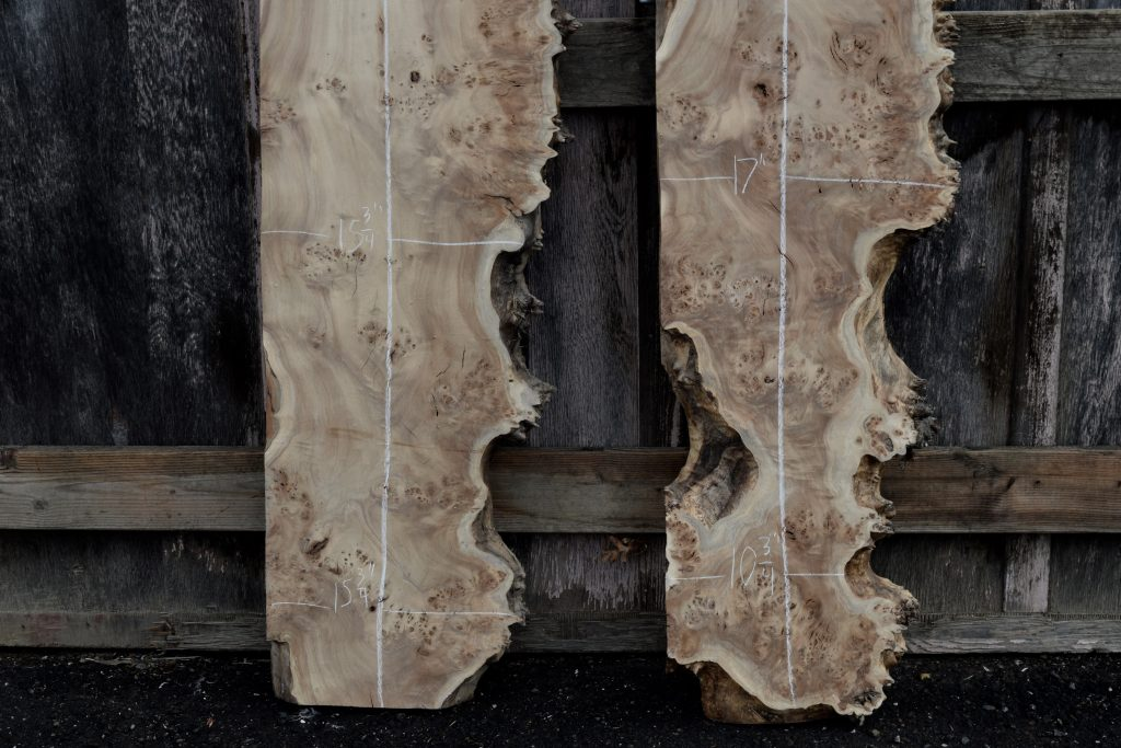 Book Matched Cottonwood Burl Slabs Dry Sold Salvaging And Reclaiming Urban Woods