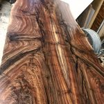 Beautiful Custom Claro Walnut Bookmatched Dining Table