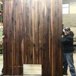 Giant Kitchen Island Made from Walnut Lumber