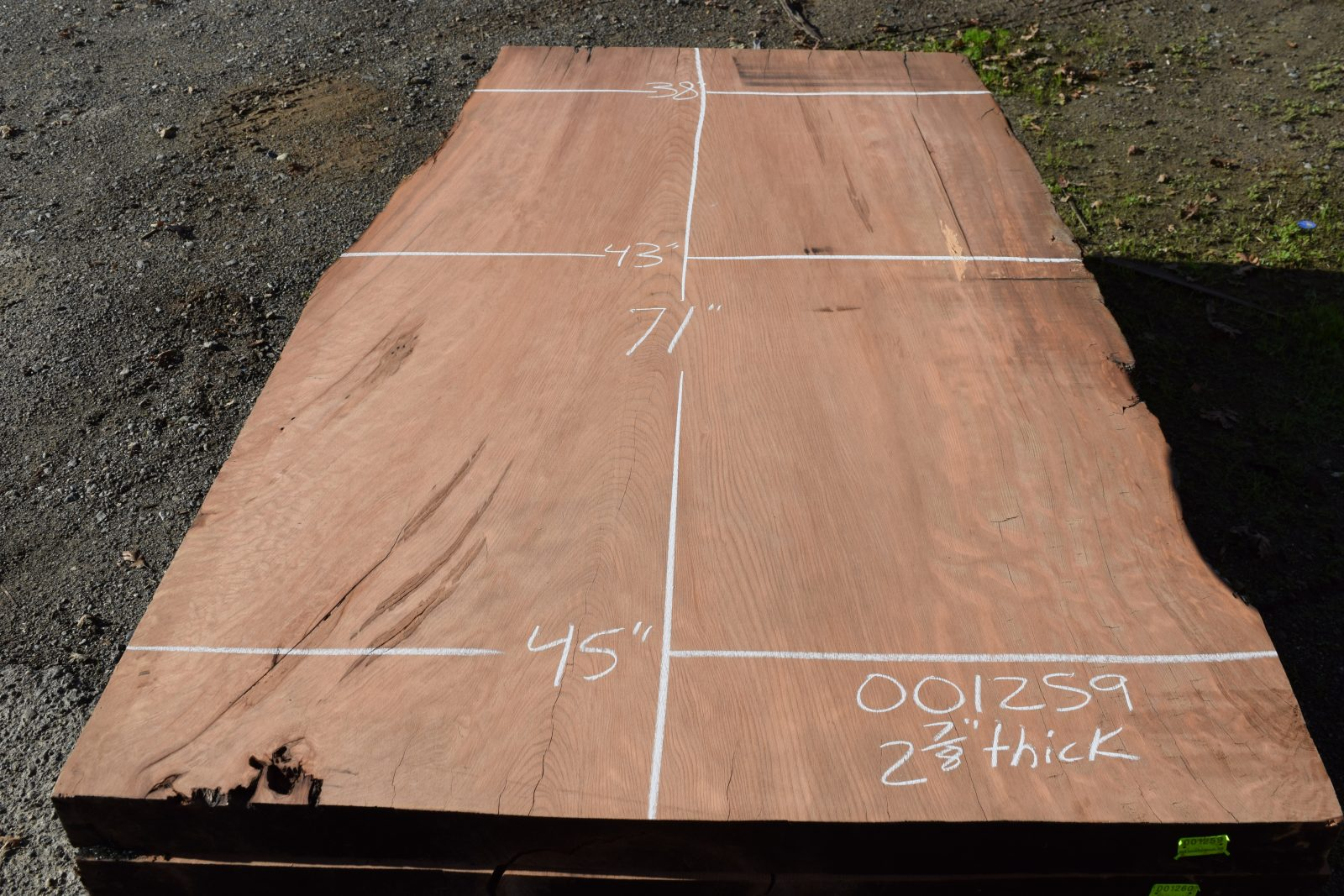 001259 Dry Surfaced Old Growth Redwood Slab 71 Quot X45 Quot 38 Quot X2