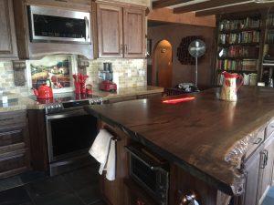 gorgeous live edge claro walnut kitchen island hardwood reclaiming