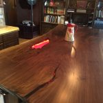 Gorgeous Live Edge Claro Walnut Kitchen Island