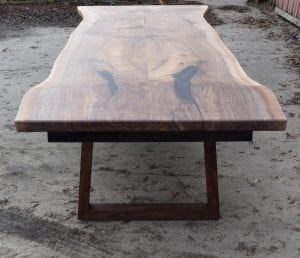 11' Grafted English/Claro Walnut Dining Table