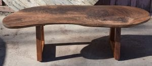 Beautiful Claro Walnut Coffee Table with Handmade Acacia Wood Legs