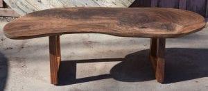 Beautiful Claro Walnut Coffee Table with Handmade Acacia Wood Legs