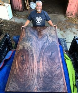 Custom Claro Walnut Table Top