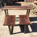 Custom Sofa Table and 2 Matching Side Tables