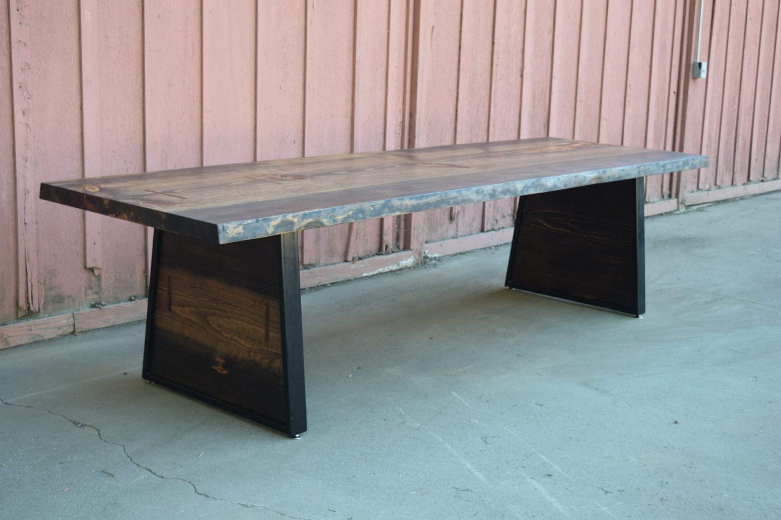Beautiful Custom Denim Pine Dining Table with Matching Legs