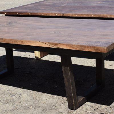 Custom Square Edge Walnut Dining Tables