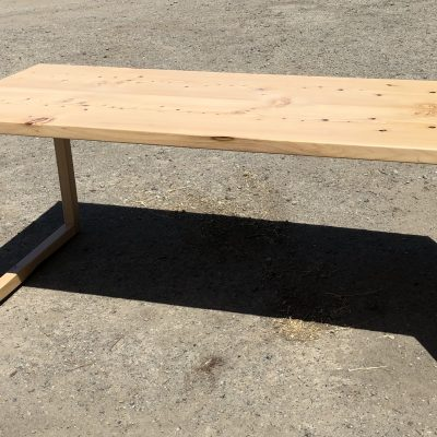 Custom Bookmatched Waterfall Live Edge Desk